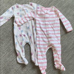BUNDLE. Organic baby pajama set